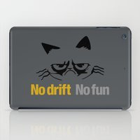audi iPad Cases featuring No drift No fun v1 HQvector by Vehicle
