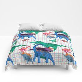 Triassic Plaid Comforters