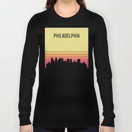Philadelphia Skyline Long Sleeve T-shirt