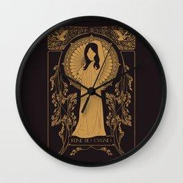Reine des Cygnes (Gold) Wall Clock