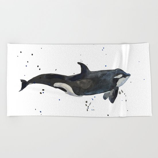 Oh Whale Beach Towel