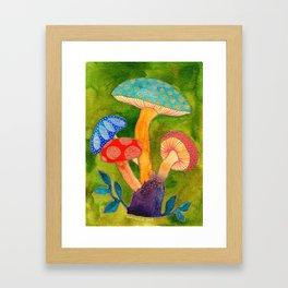 Toadstools Framed Art Print