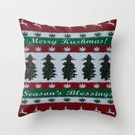 Merry Kushmas! Throw Pillow