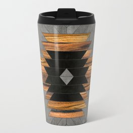Urban Tribal Pattern 6 - Aztec - Concrete and Wood Travel Mug
