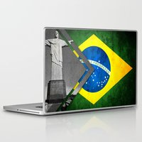 brazil Laptop & iPad Skins featuring Flags - Brazil by Ale Ibanez