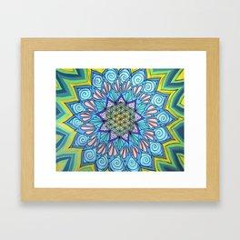 Mayan Mystique Mandala Framed Art Print