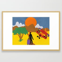 The Possibilities are Endless- Girl & Bi-Plane Framed Art Print