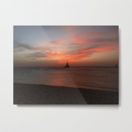 Eagle Beach, Aruba - I Metal Print