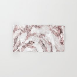 White and Pink Marble Mountain 01 Hand & Bath Towel