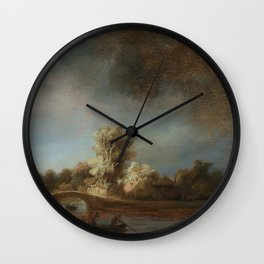 Rembrandt - The Stone Bridge Wall Clock
