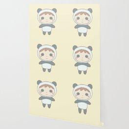 Cute Panda Kid Wallpaper