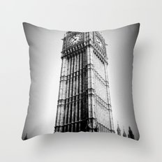 Ben looms in black and white, too. Throw Pillow