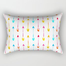 Multi Colored Tiny Arrows Pattern Rectangular Pillow