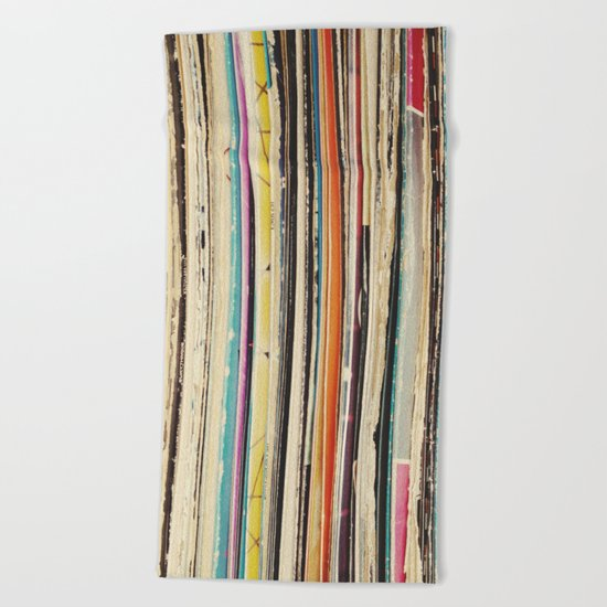 Record Collection Beach Towel