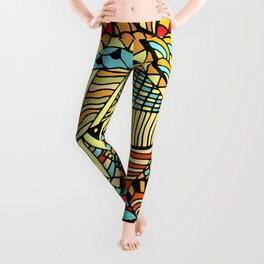 Funky Hipster Funky Abstract Design Leggings
