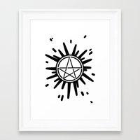 supernatural Framed Art Prints featuring Supernatural  by Elisehill3