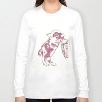 piglet Long Sleeve T-shirts featuring 12. Lovely Piglet with Heart Pattern by Hennaart yume by kat