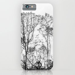 Black and white tree photography - Watercolor series #5 iPhone Case