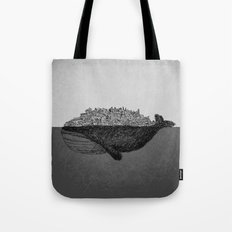 Whale City Tote Bag
