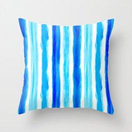 Laird Blue Stripes Throw Pillow