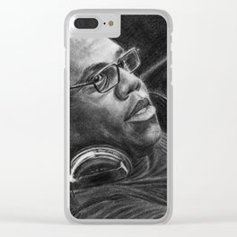 Carl Cox Pencil Drawing Clear iPhone Case