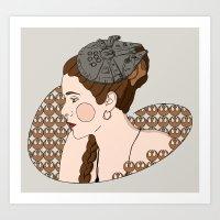 Leia - Rebel Princess  Art Print