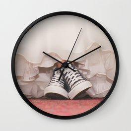 HER SHOES Wall Clock