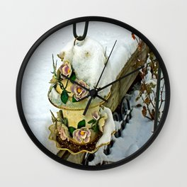 Winter Home Wall Clock