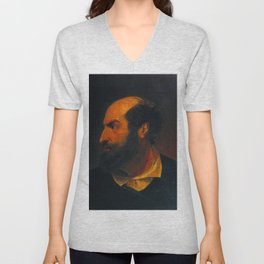 John Everett Millais - A Spanish Gentleman (after John Jackson's 'Shylock') Unisex V-Neck