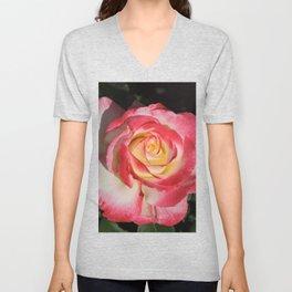 Multi-Hued Rose Unisex V-Neck