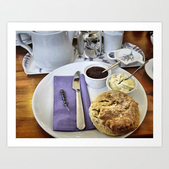 Devonshire Cream Tea Art Print