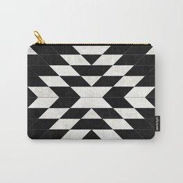 Urban Tribal Pattern No.14 - Aztec - Black Concrete Carry-All Pouch