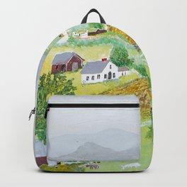 Anna Mary Robertson 'Grandma' Moses Mountains American Folk Art Backpack