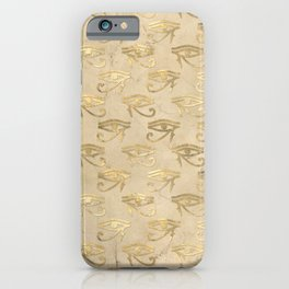 Gold Egypt Eye Of Horus Pattern iPhone Case
