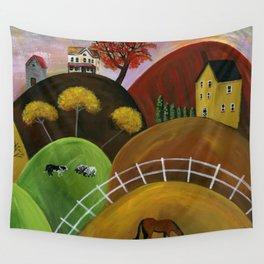 Hilly Hues at Dusk Wall Tapestry