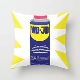 WDJD Stops Sqeaks Throw Pillow