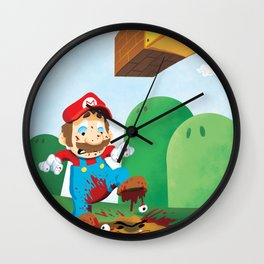 Mario Mess Wall Clock