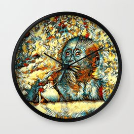 AnimalArt_Gorilla_20180202_by_JAMColorsSpecial Wall Clock