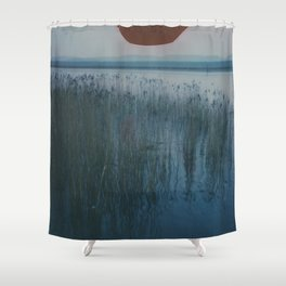 Polaroid lovers ~ river reeds Shower Curtain