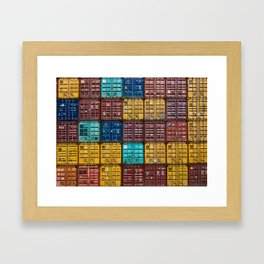 Shipping Containers Framed Art Print