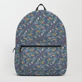 with early spring flowers Backpack