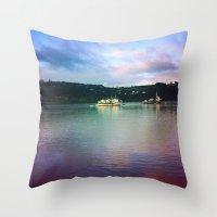chile Throw Pillows featuring Al sur de Chile by Viviana Gonzalez