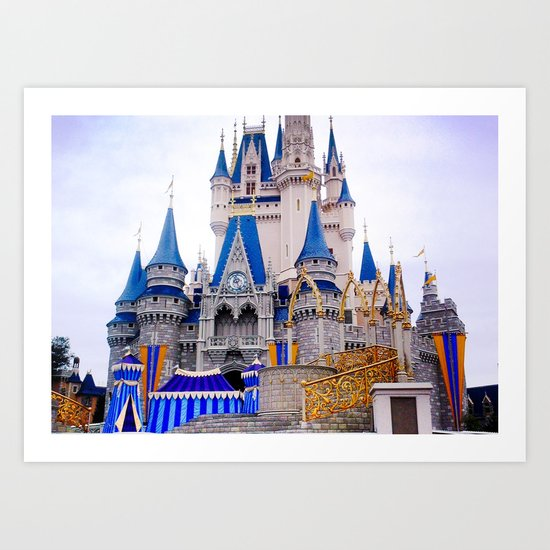 Walt Disney Castle Art Print