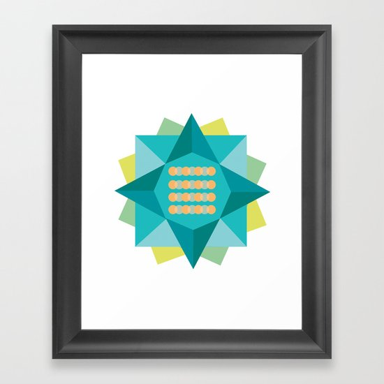 Abstract Lotus Flower - Yoga Print Framed Art Print