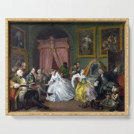 William Hogarth Marriage à-la-mode The Countess's Morning Levee Serving Tray