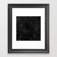 Painted B&W Framed Art Print