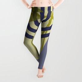 Round lines geometric pattern Design Leggings