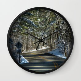 Early Winter in Itasca State Park Wall Clock