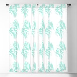 Palm Leaves Pattern #1 #Mint #decor #art #society6 Blackout Curtain