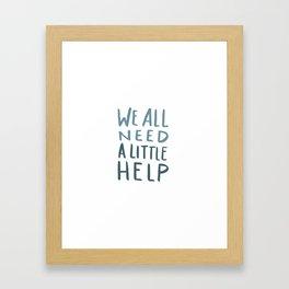 Hurricane Relief - We All Need A Little Help Framed Art Print